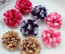 80pcs Hair Bow Loopy style mix color Vintage flower Cheer Dance Birthday Holiday Recitals 3d flowers