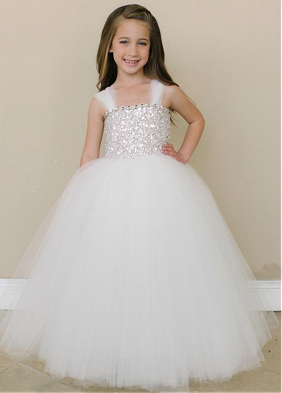 Confirmation Dresses Girls Angelic Multi Layered Tulle Flower Girl Dresses with Rhinestone and Sequin Bodice Cheap Pageant Dress(China (Mainland))