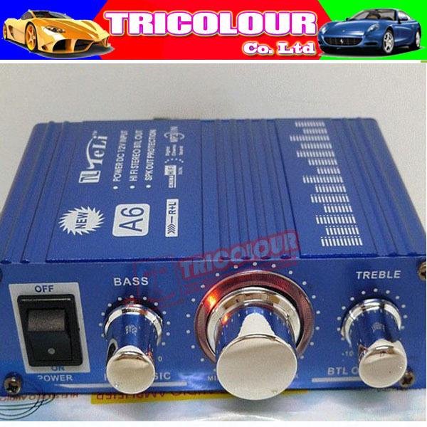 TeLi A6 MINI Hi-Fi Audio Stereo Digital Amplifier Car Motorcycle Power Amplifier 5pcs/lot wholesale #F02130(China (Mainland))