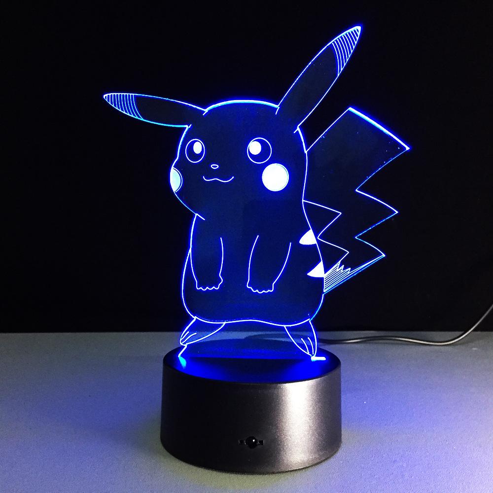 USB RGB лампа в виде Пикачу с сенсорным затемнением 3D ночной Светильник IMG_2163