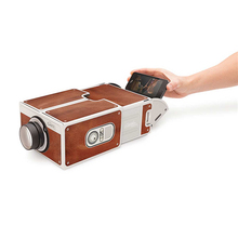 2015 New arrive DIY SmartPhone Projector Version 2.0 free installation without power mini portable projector for Android iphone(China (Mainland))