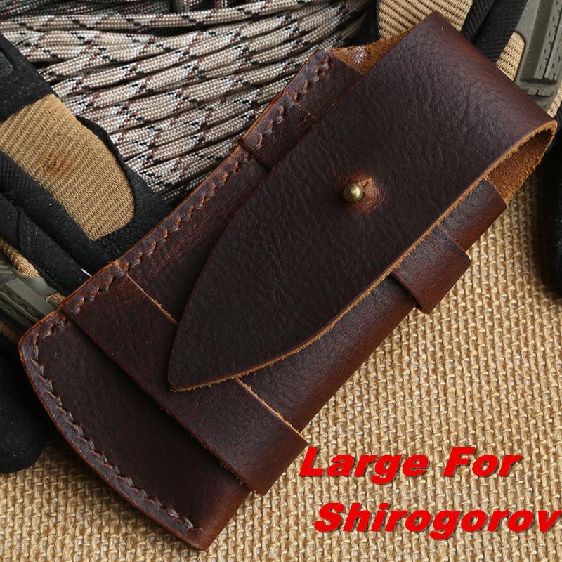 Hand made cow OX skin leather sheath scabbard for GTC ZT0888 Shirogorov F95 111 hati tabargan 95 tehnobambuk outdoor camping edc(China (Mainland))