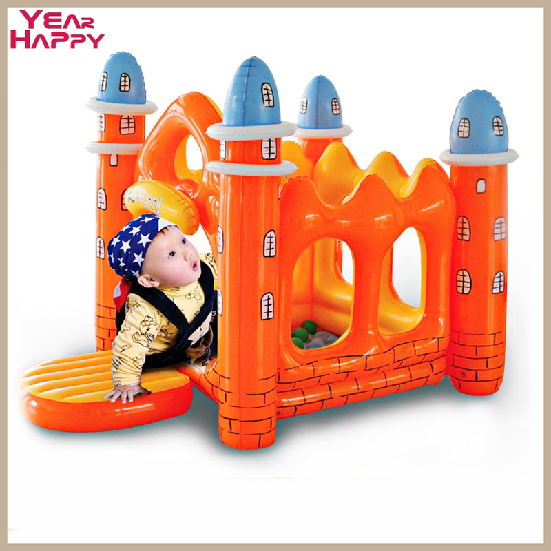 New 2015 commercial grade heavy duty PVC jumping castle Intime inflatable indoor household child toy inflatable house(China (Mainland))