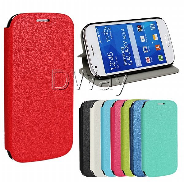 Galaxy Ace 4 Case Business Styles Stand Slim Phone Cover Ultra-thin Leather Samsung G357FZ - Wing Duan's store