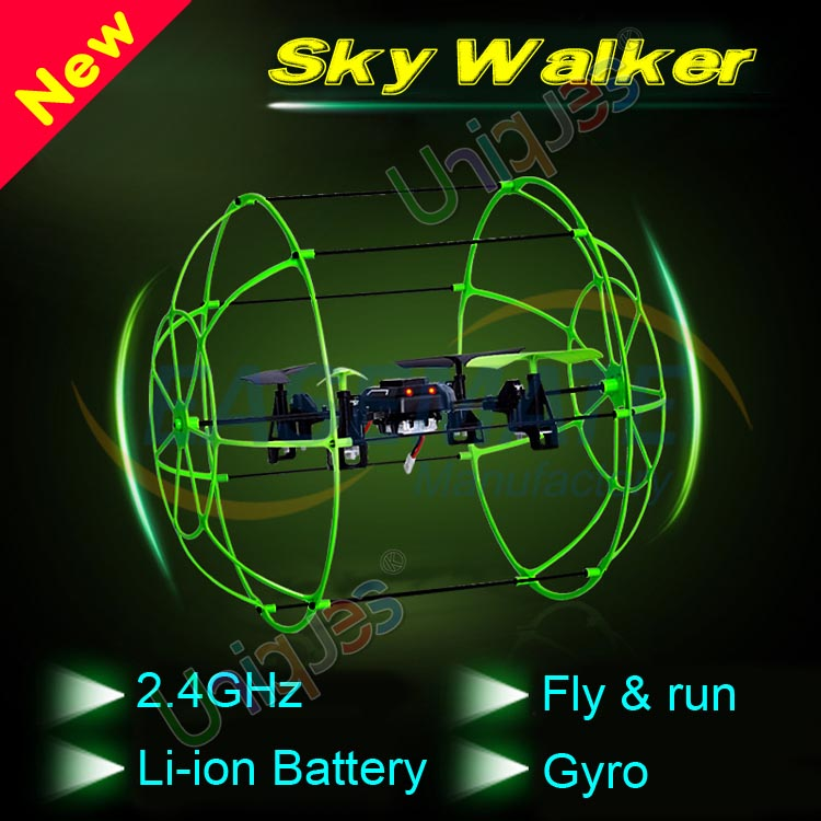 2015 Newest Sky Walker Matrix 1306 4CH RC Quadcopter Climbing Wall rc helicopter radio control Running on the floor vs 9056(China (Mainland))