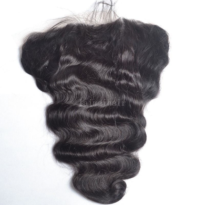7A 13*6 inch body wave lace frontal bleached knots malaysian lace frontal closure with baby hair full frontal
