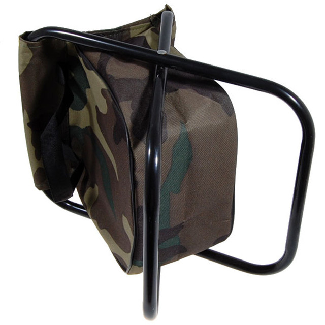 Camo Folding Camping Chair Stool
