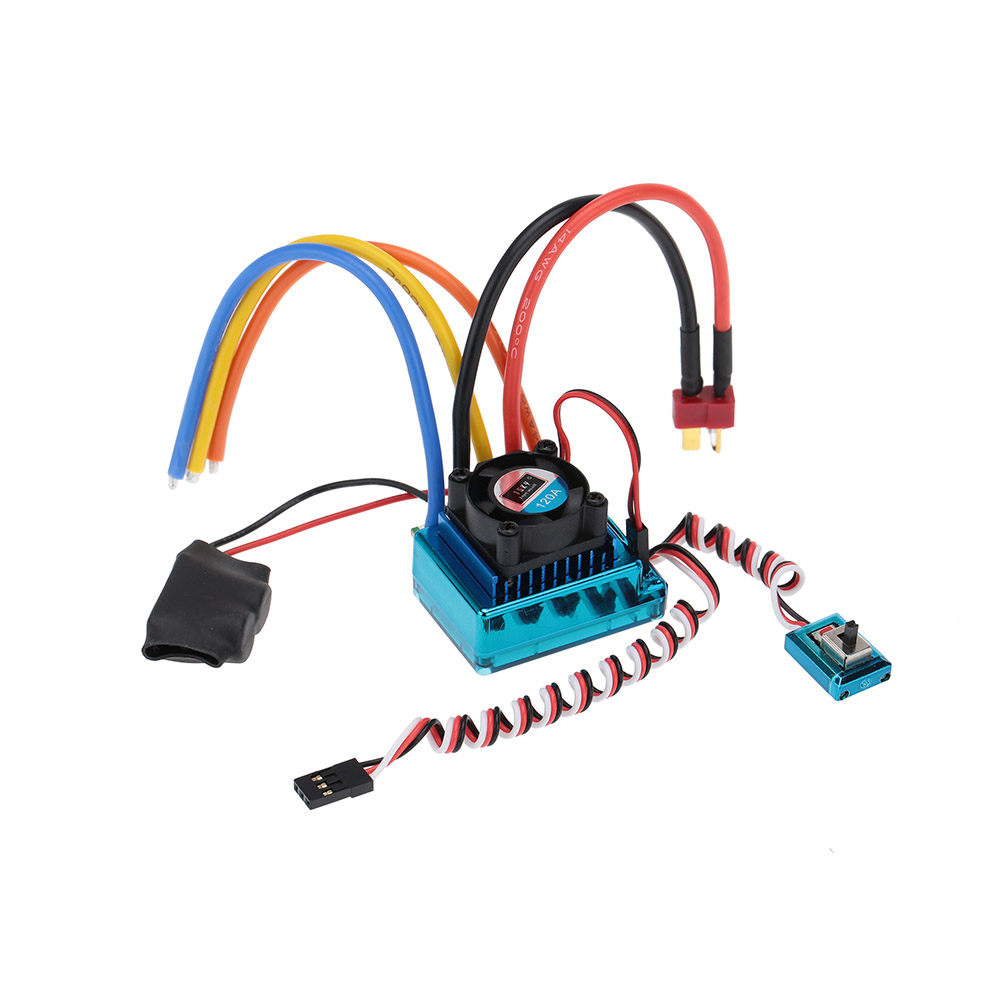 High Quality PCB Plate 120A Sensored Brushless Speed Controller ESC for 1/8 1/10 1/12 Car Cross-country Running Crawler(China (Mainland))