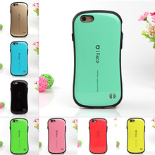 iFace Case Candy Color Style Shock Absorbing Cover Bag For Apple Silicone +PC Hard Case for iPhone 6 6s 4.7 6 Plus 5.5 5 5s SE(China (Mainland))