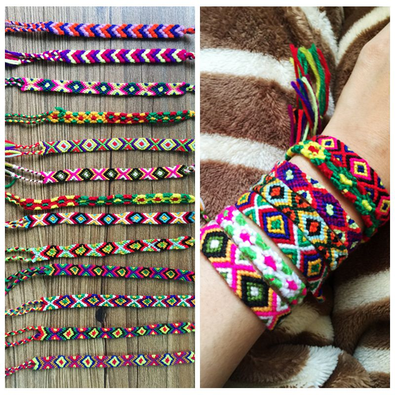 handmade knitted hand rope bohemia cotton bracelet for lover(China (Mainland))