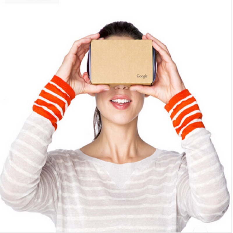 Free shipping Max 6 inch top quality Google Cardboard 2.0 VR glasses oculus rift VR smart 3D glasses+headbelt +Conductive button(China (Mainland))