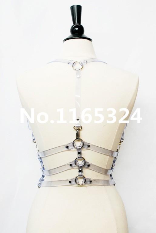 моды панк гот harajuku ручной орган Бондаж Кейдж подвязки, кожаный ремень три строки формы талии поясом