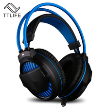 Buy TTLIFE Professional Wired Headband Headset Computer Gaming Headphones Stereo Bass Music Microphone Earbud Noise Cancelling for $17.64 in AliExpress store