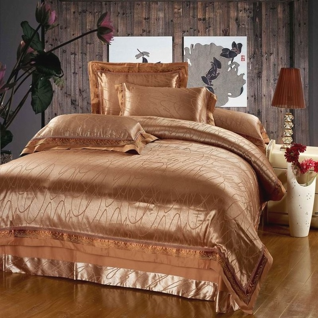 New arrival home luxury tencel fabric 100% cotton lining piece set wedding bedding package discount bedspreads and comforters