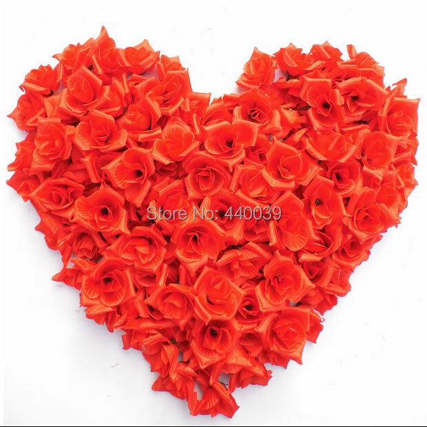 100pcs/lot cute mini candy color rose Artificial Silk Flower Heads Wedding party Hair dressing rose petals for weddings FW112(China (Mainland))