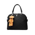 Ladies pu leather bags shell black handbags women famous brands designer sweet lady handbags high quality