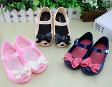 Wholesale Fashion Cute Bow Princess Baby Jelly Shoes Toddler Girl Summer Soft Sole Sandals Shoes KS14(China (Mainland))