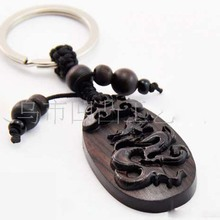 Selling high quality mobile phone hang act the role of wood carving handicrafts, key chain, mascot of the dragon, friend's gift(China (Mainland))