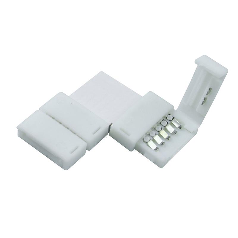 10pcs Solderless L Shape 90 Degree Corner Connectors rgbw 5 pin connectors for 12V 5050 12mm width LED RGBW/RGBWW Strip()