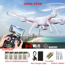 SYMA X5SW RC Drone with fpv camera 2.4G 6Axis Real Time RC Helicopter Quadcopter Toys vs syma x8c mjx x600 mjx x101