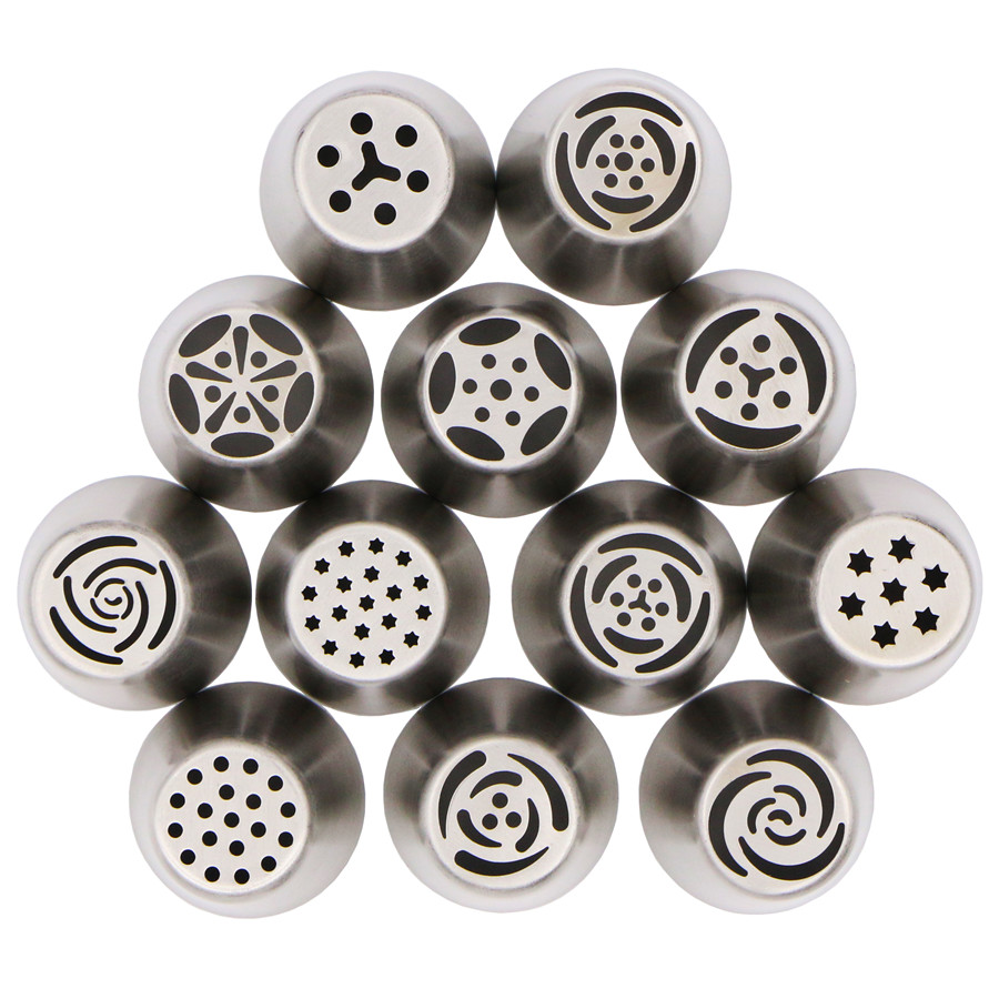 Cake Decorating Cone Tip : Aliexpress.com : Buy 12Pcs Russian Tulip stainless steel ...