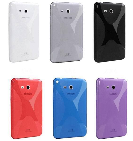 Гаджет  New Soft X-line TPU Back Cover Case Anti-slip Skin For Samsung Galaxy Tab3 Lite T110 T111 7.0 inch None Компьютер & сеть