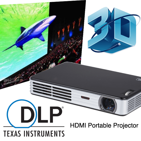 Long lamp life DLP portable HD Projector 1280x800 proyector video games projetor projecteurs school office home cinema system<br><br>Aliexpress