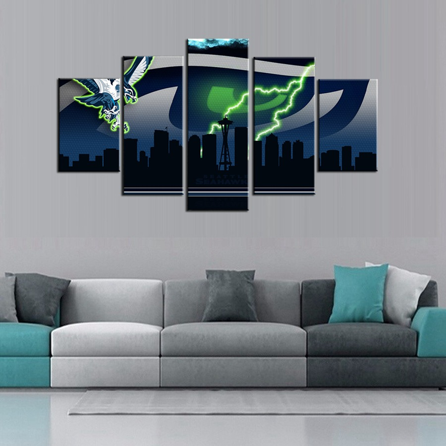 Seattle Seahawks American Football Logo Poster Giclee Wall Art for Living Room Boy's Bedroom Wall Art Decor Fashion Gift(China (Mainland))