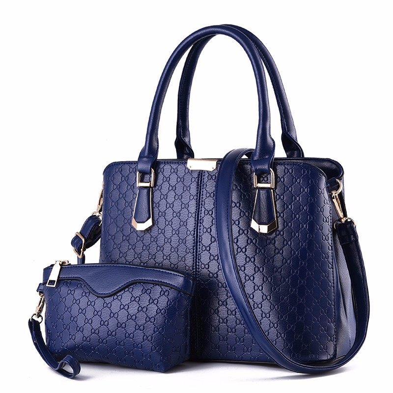 Occident Style Elegant Classy Composite Bag Women Succinct Plaid Handbag Fashion Embossing PU Shoulder Bag Lady Small Clutch Bag