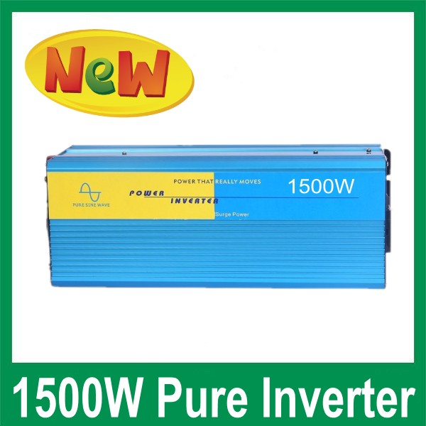 High Frequency 1500W Continuous 3000w Peak power supply Pure Sine Wave Solar Power inverter 12v to 220v off grid dc ac converter(China (Mainland))