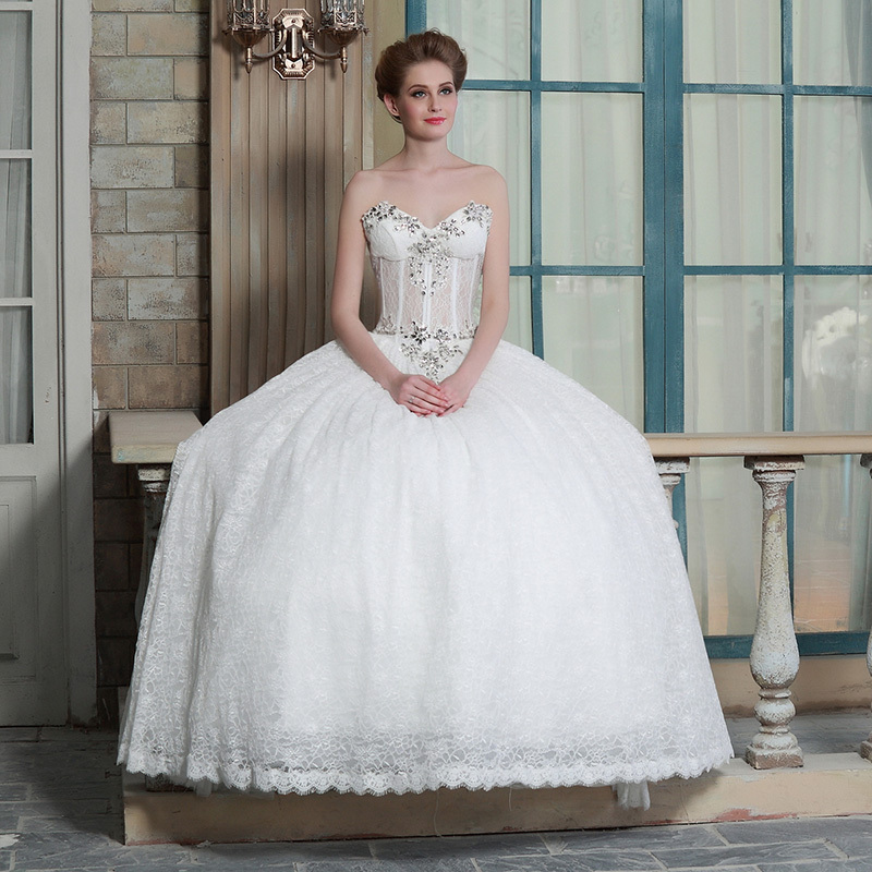 Vintage Crystal Beaded Corset Top Tulle Ball Gown