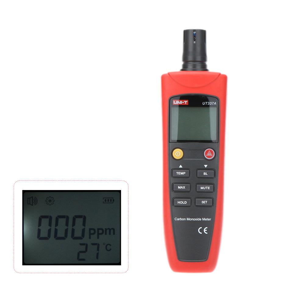 UNI-T UT337A High Accuracy Carbon Monoxide Meter Analizador de gases With Sound/Light Alarm Gas Analyzer Meter