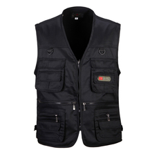male vest outdoor casual multi pocket quinquagenarian 100% cotton mesh vest waistcoat Photography waistcoat(China (Mainland))