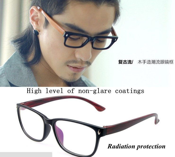 ! glasses, Fashion eyewear women eye glasses frame vintage men clear lens black eyeglasses - store