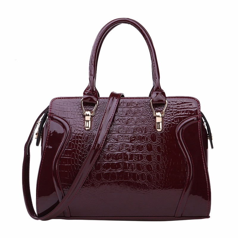 Luxury Crocodile-print PU Leather Hand Bag Occident Style Classy Women Elegant Bag Ladies Fashion Embossing Casual Crossbody Bag