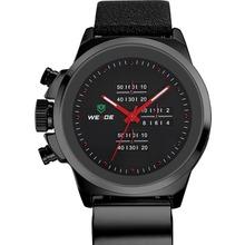 Japón Original movimiento de cuarzo WEIDE WH3305 moda Casual hombres deportes reloj de cuarzo resistente al agua – negro + rojo