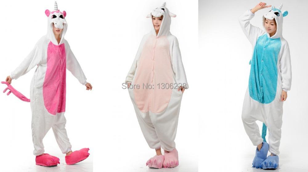 унисекс пижамы для взрослых onesie косплей костюм животных onesie пижамы  костюм Единорога 9538f2d1e4bee