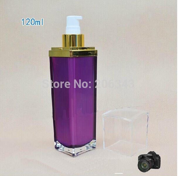 120ml purple patels shape acrylic press pump lotion/emusion/serum/foundation bottle,press pump bottle ,Cosmetic bottle<br><br>Aliexpress
