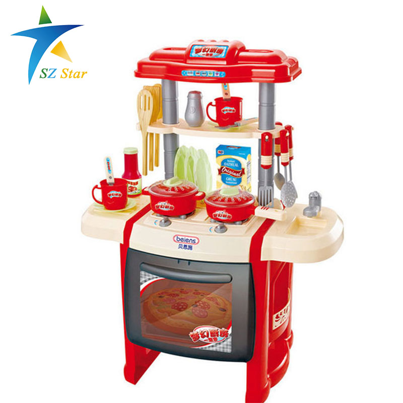 Kitchen Set Games Youtube: Simulation Kitchen Toys Girls Game Playsets Kitchen For