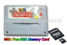 Free shipping 16 bit game cartridge  with free 8GB memory card (retro console game card for developer ) for snes(China (Mainland))