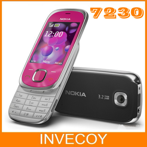7230 Original Nokia Unlock 7230 mobile phone Bluetooth FM JAVA 3.15MP refurbished(China (Mainland))