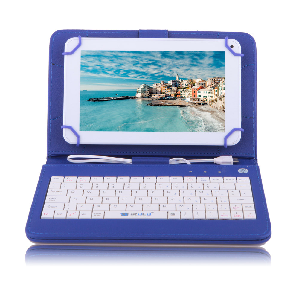 IRULU eXpro X1c 7 inch Tablet Android Allwinner 8GB Quad Core Cheap Internet White Blue Keyboard Case 2015 Newest - iRulu-Net store