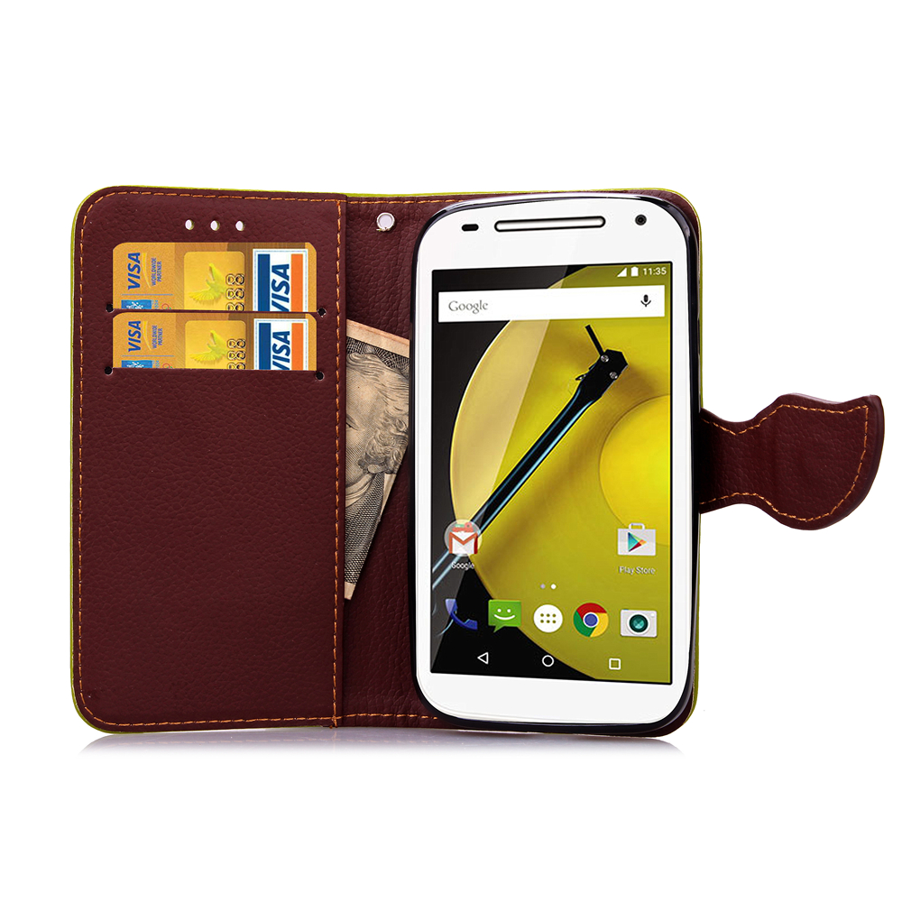 For Motorola Moto G ( XT1032 ) Leaf Clasp Flip Leather Case Stand Function Card Slot Wallet Cases Cover 1032 Motorola1032 G1(China (Mainland))