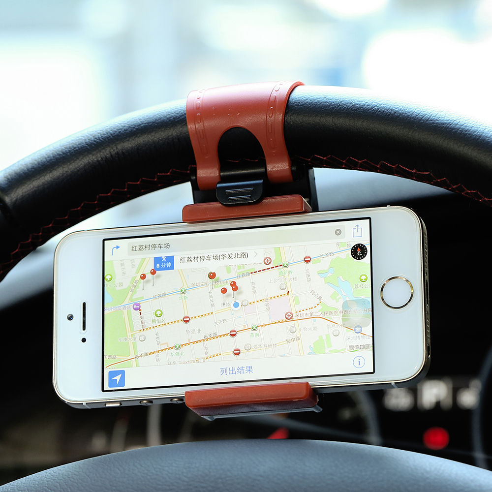 Car Steering Wheel Phone Socket Holder Cellphone Trestle for iPhone 6 6S Plus 5s 4s 5C Samsung S3 S4 S5 S7 edge Huawei HTC Sony(China (Mainland))