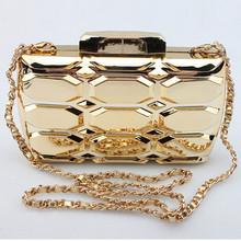 Rectangular Lattice Gold Dinner Bag