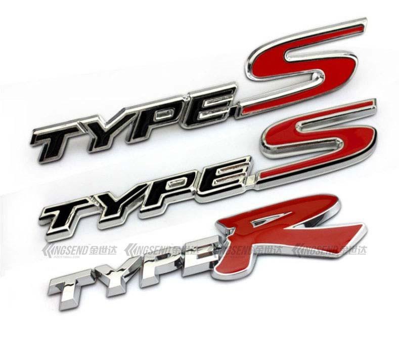 2PCS Big Red R Plastic Badge Sticker Emblem Decal Side Truck Sport Silver Car