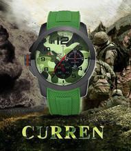 Bonivita curren hombres reloj del cuarzo correa del silicón del reloj hombres mujeres lujo de la marca del ejército de silicona relogios femininos