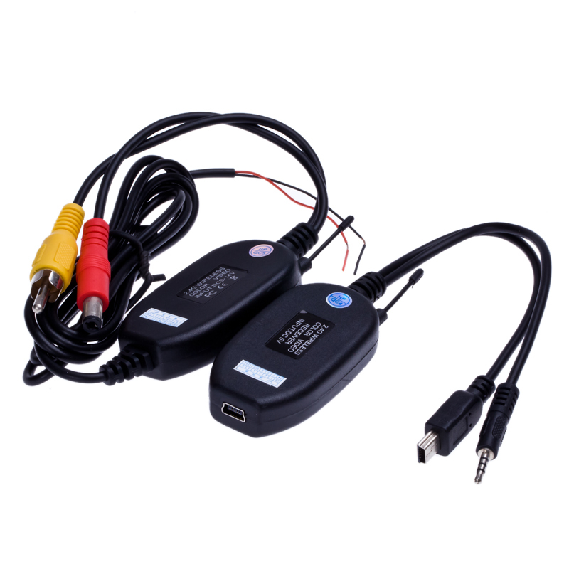 2.4Ghz Wireless RCA AV Video Transmitter Receiver for Rear View Camera Monitor Auto DVD MP5 Player(China (Mainland))