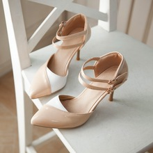 ARMOIRE 2016 Summer New Sexy Women Nude Sandals Blue Pink Apricot Red High Heel Ladies Formal Shoes AM7-5 Plus Big Size 30 48(China (Mainland))