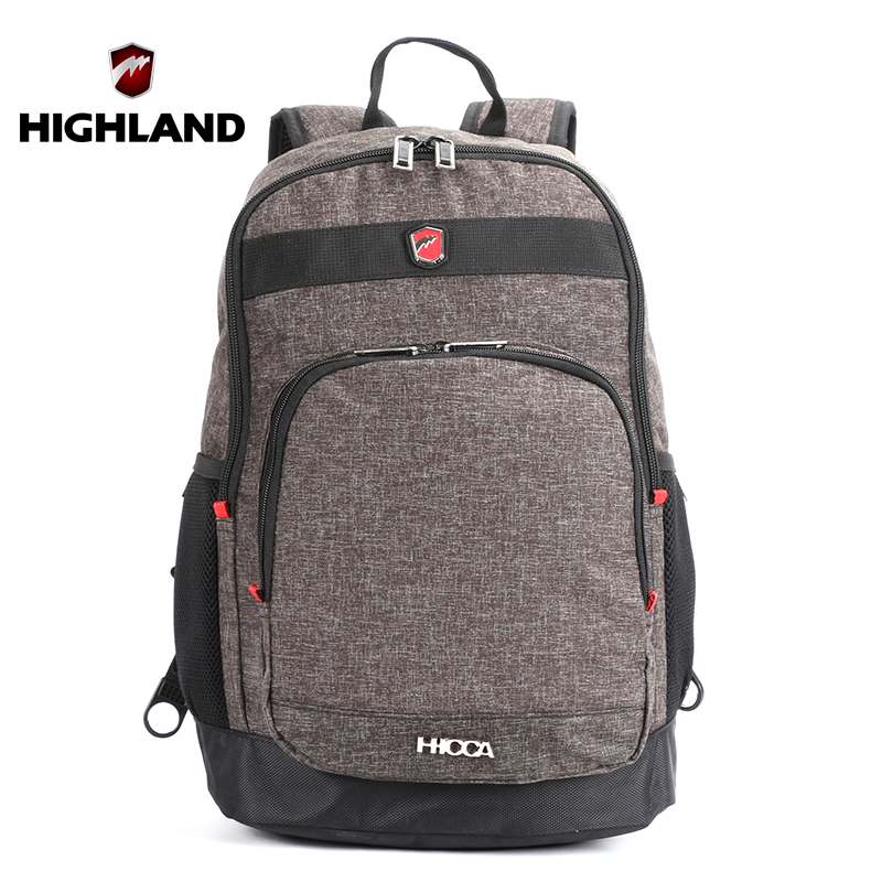 "HIGHLAND 2016 Women's Backpack 24L Capacity 15"" Laptop Backpack Business Man Waterproof School Bag For Teenage Computer Bags(China (Mainland))"